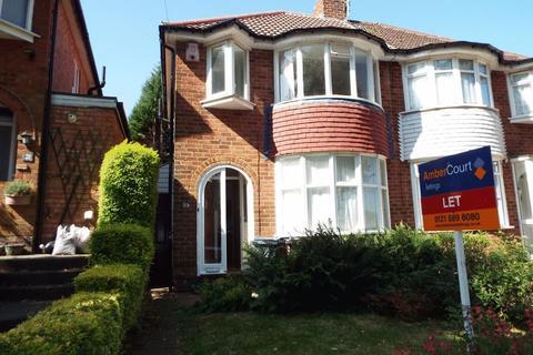 3 bedroom semi-detached house to rent - Falconhurst Road, Selly Oak, Birmingham, B29 6SB
