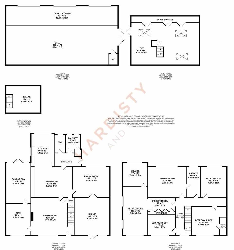 Floorplan: Dean Head House Scotland Lane