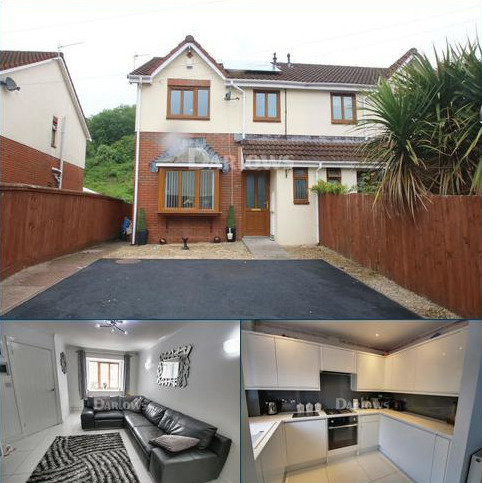 3 bedroom semi-detached house for sale - Plymouth Gardens, Pentrebach