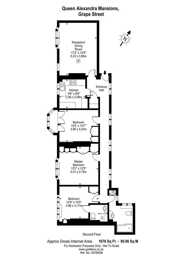 Queen Alexandra Mansions 3 Grape Street London Bed Flat