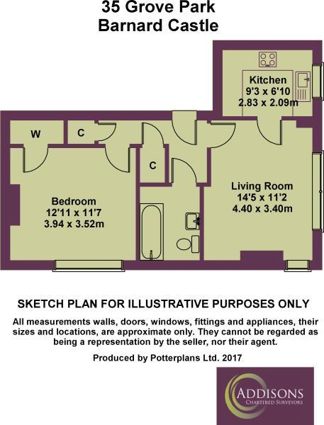 Floorplan: 35 Grove Park Plan
