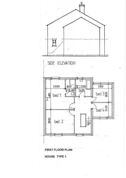 House Type 1 First Floor plan to go with BROCHURE