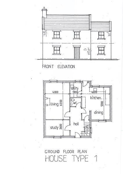 House Type 1 Ground Floor Plan to go with BROCHURE