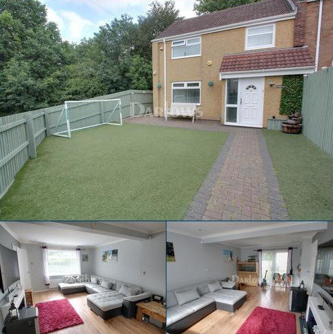 3 bedroom end of terrace house for sale - Maendy Wood Rise, Pontnewydd