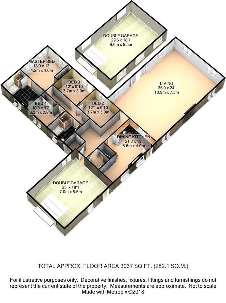 Floorplan 3 of 4: 185 Long Line 3 D Floor Plan