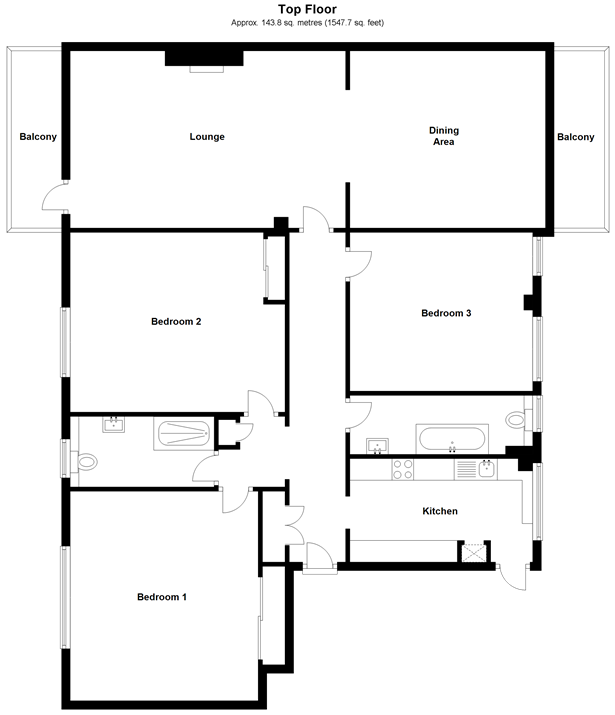 Floorplan: Top Floor