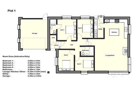 4 bedroom detached bungalow for sale - Plot 1, Helestone Park, Frithelstockstone
