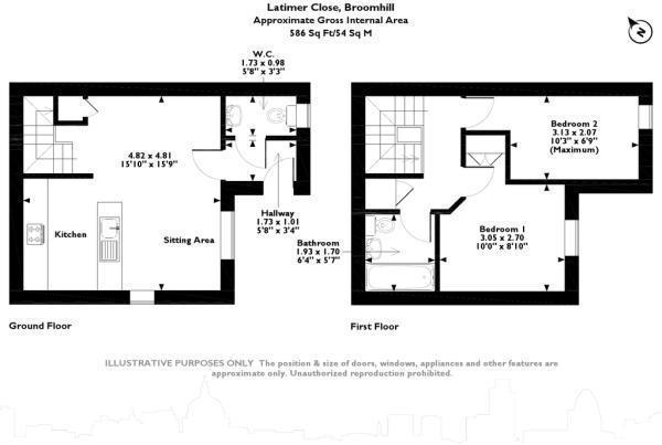Floorplan: Floor plan Latimer 2bed house.jpg