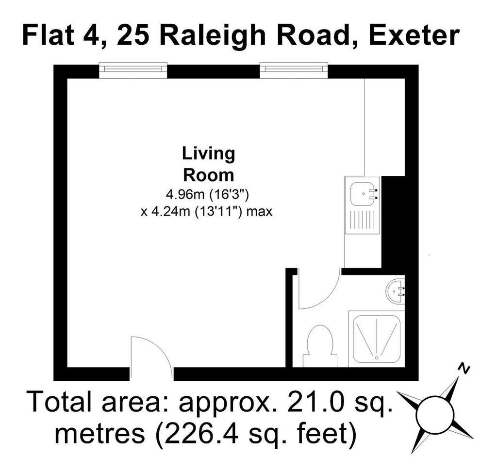 Floorplan: Flat 4, 25 Raleigh Road, Exeter.JPG
