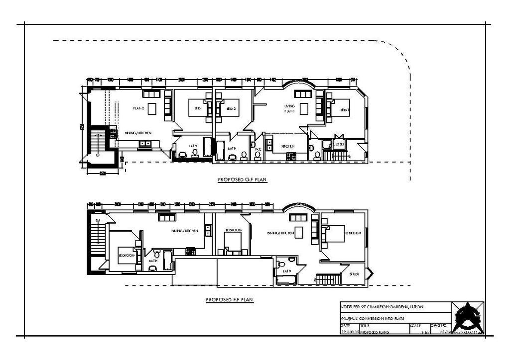 Floorplan 2 of 3: Cranleigh Gdns 97 B.Regs Rev C Proposed 21.07.15.jp