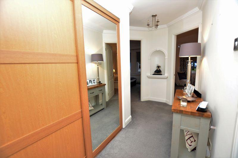 Hallway with storage