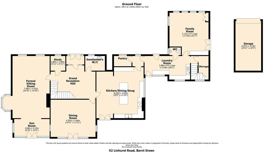 Floorplan 1 of 3: Ground floor elevation floor plan    main house.jp