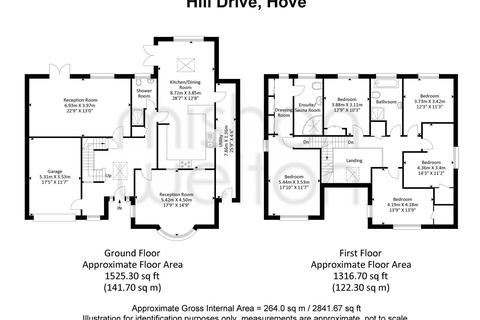 5 bedroom detached house for sale - Hill Drive, Hove