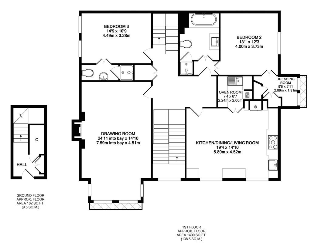 Floorplan 1 of 2: Ground & First Floor