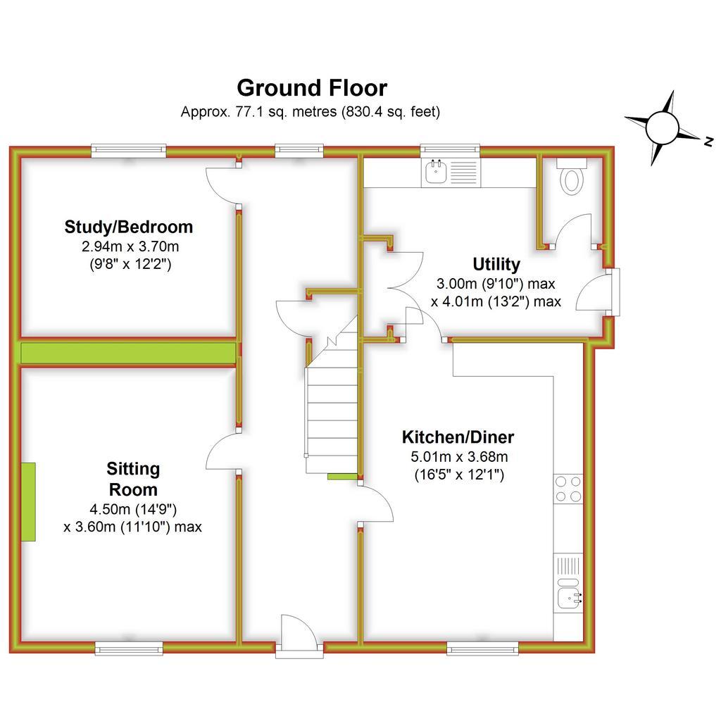 Floorplan 1 of 3: Violet Barn, Ground