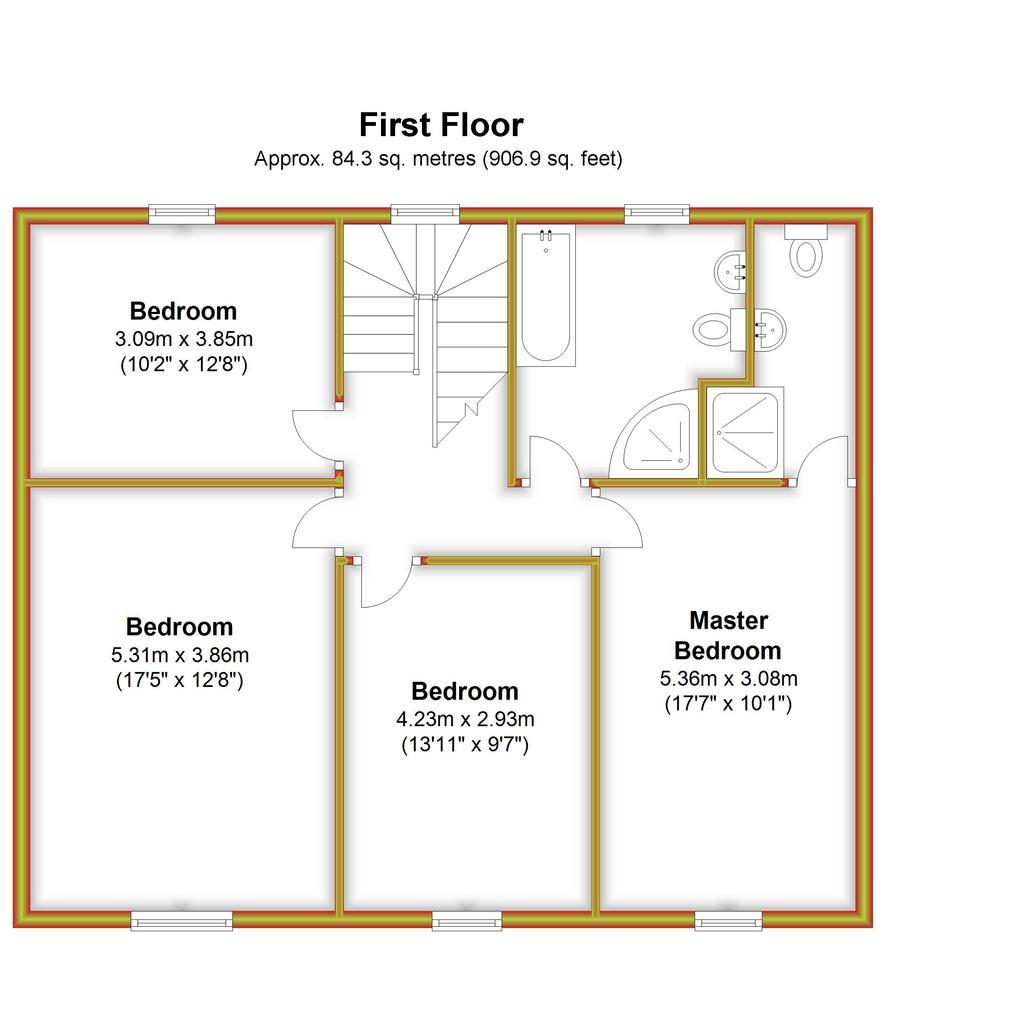 Floorplan 2 of 3: Violet Barn, First