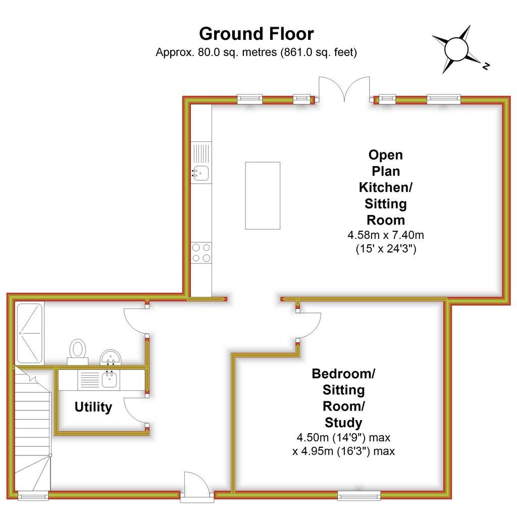 Floorplan 1 of 3: Lavender Barn,...