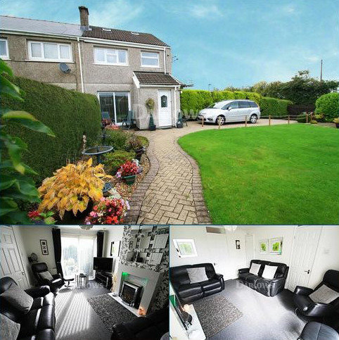 3 bedroom semi-detached house for sale - Aneurin Crescent, Brynmawr, Gwent