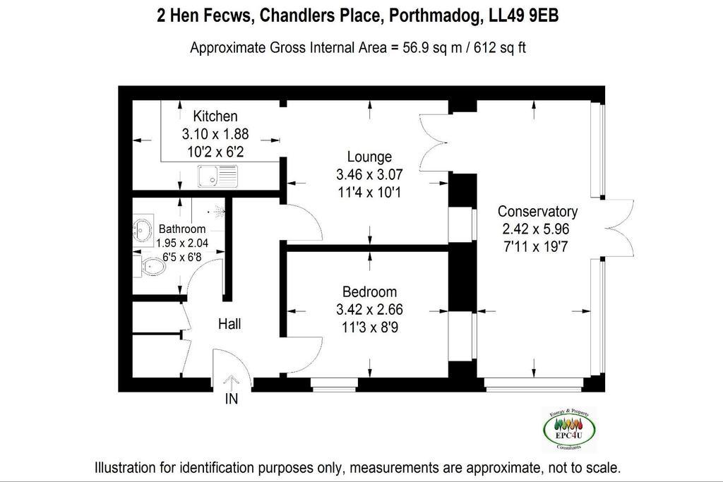 Floorplan: Flat 2 Hen Fecws, Floorplan.jpg