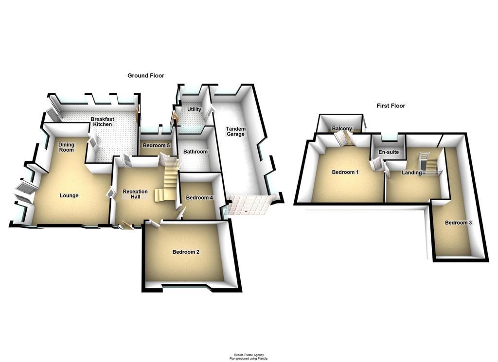 Floorplan 1 of 2: Ground / First...