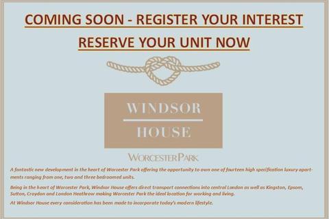 2 bedroom flat for sale - Windsor House, Windsor Road, Worcester Park, KT4