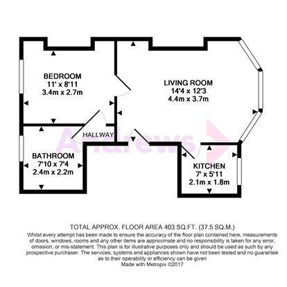 Floorplan: Flat 2, 19 Lime Hill