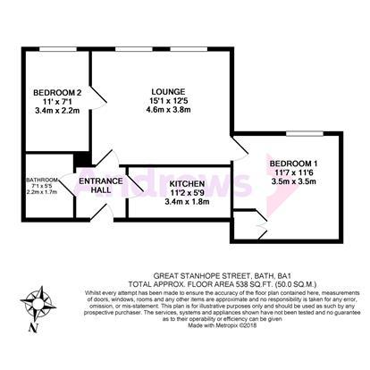 Floorplan: 5 Great Stanhope Street