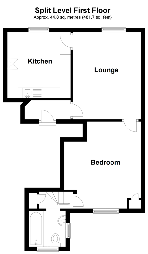 Floorplan: Split Level First Floor