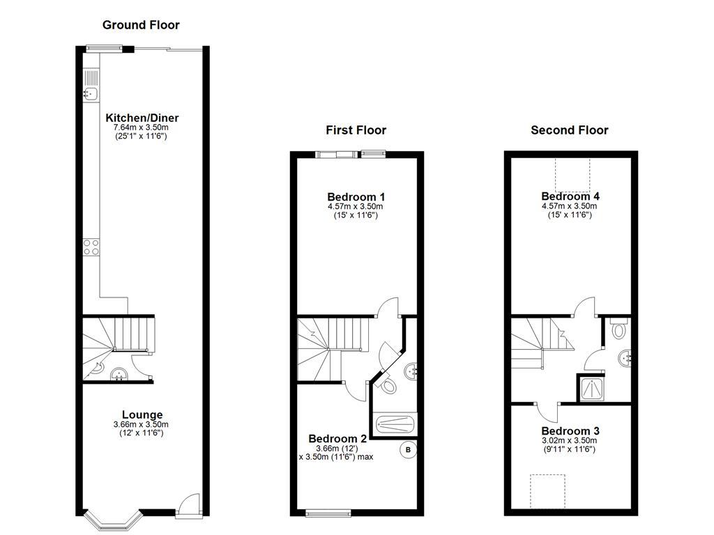 Floorplan: Kingsley Road, Mi...
