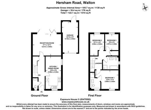 Elmwood Gardens Hersham Walton On Thames 3 Bed Semi Detached House 650 000