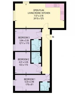 4 bedroom flat to rent - 4 Bed Flat (Shared), 10 Albion Street, Leicester, LE1 6GB