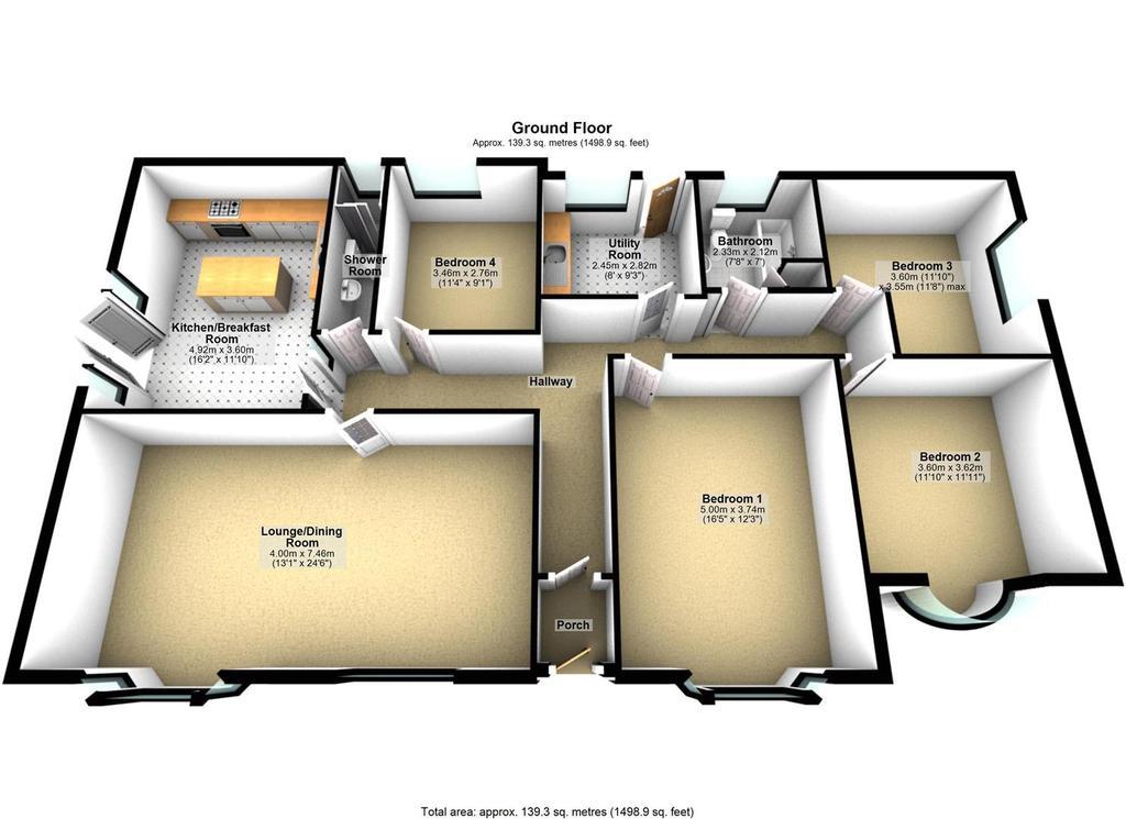 Floorplan 1 of 2: Main Bungalow