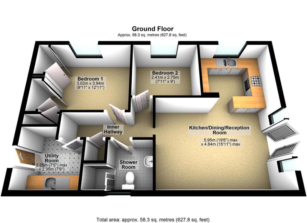 Floorplan 2 of 2: Second Bungalow