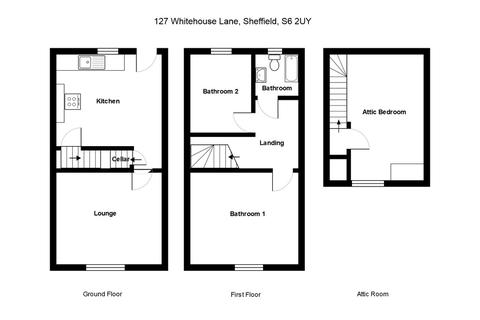 3 bedroom terraced house for sale - Whitehouse Lane, Walkley, Sheffield