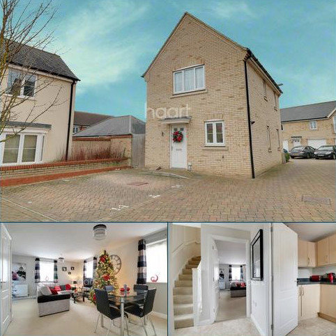 3 bedroom detached house for sale - Furrowfields, St.Neots