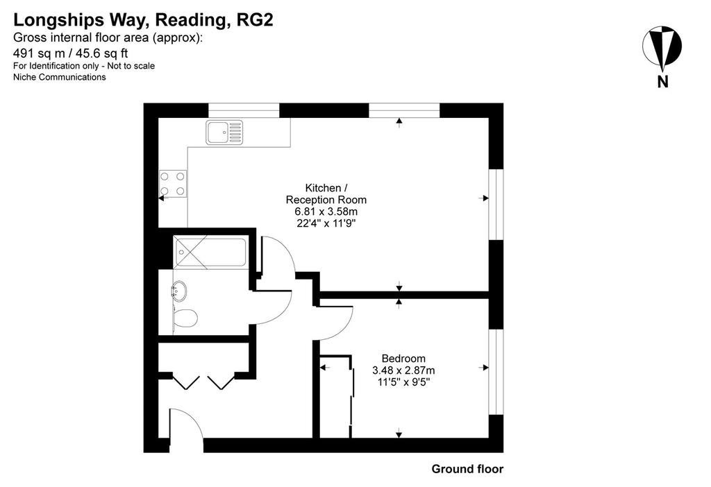 Floorplan: 1 Bed Flat To Rent