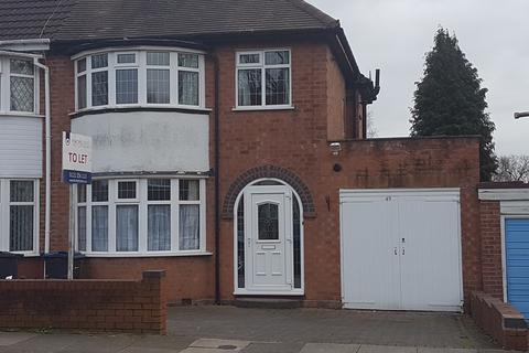 3 bedroom semi-detached house to rent - Inverclyde Road, Handsworth Wood , Birmingham B20