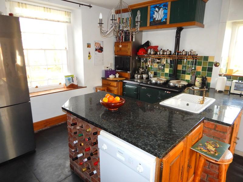 Kitchen with family living area