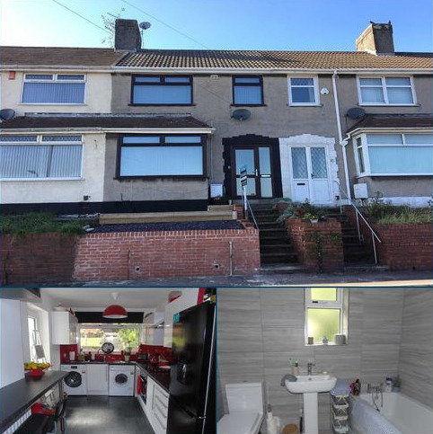 3 bedroom terraced house for sale - Emlyn Terrace, Plasmarl, Swansea