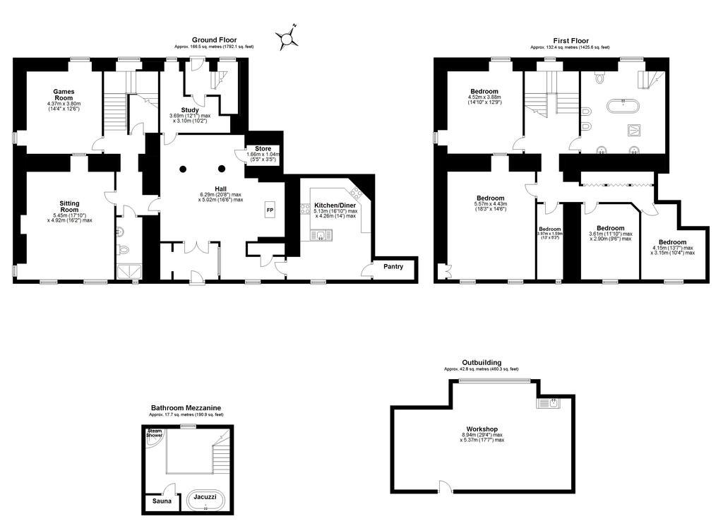 Floorplan 1 of 2: Dufton Hall
