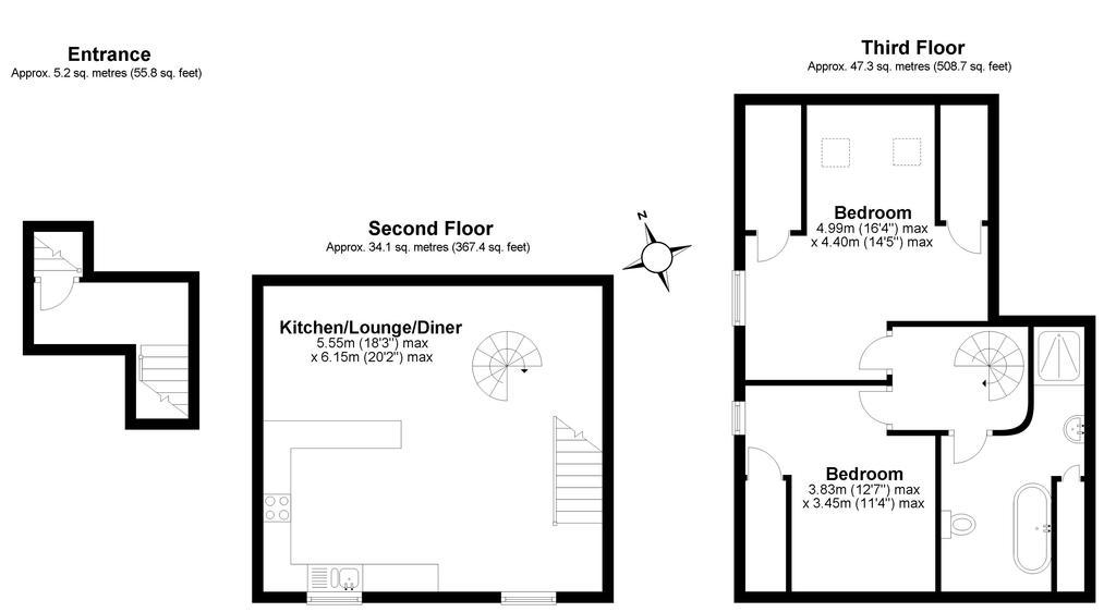Floorplan 2 of 2: The Apartment,...