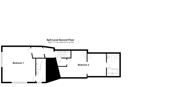 Floorplan 3 of 3: Split Level Second Floor