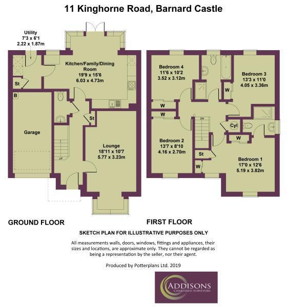 Floorplan: 11 Kinghorne Road, Barnard Castle