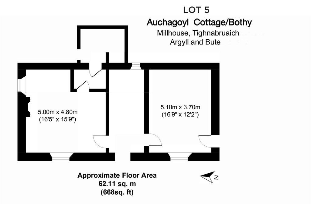 Floorplan: Auchagoyl Cott/Bothy