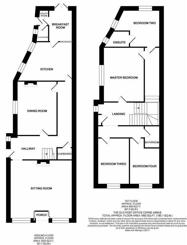 Floorplan: The Old Post Office Cerne Abbas print.JPG