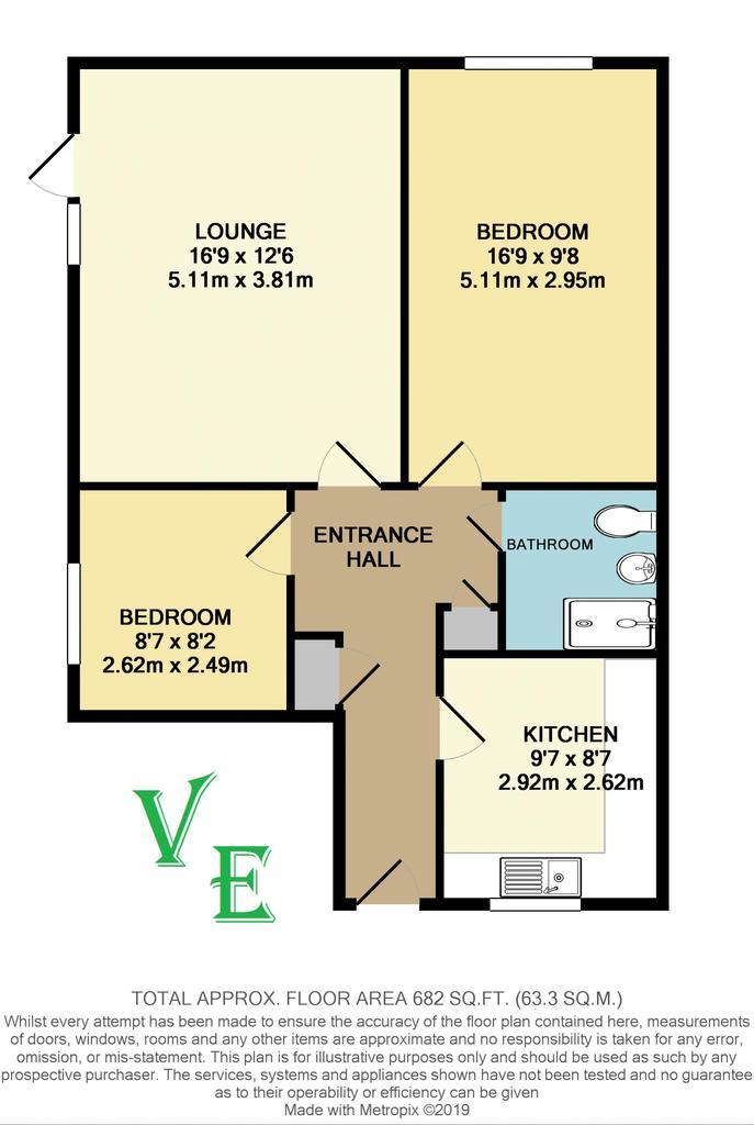 Floorplan: 15 Clarendon Mews