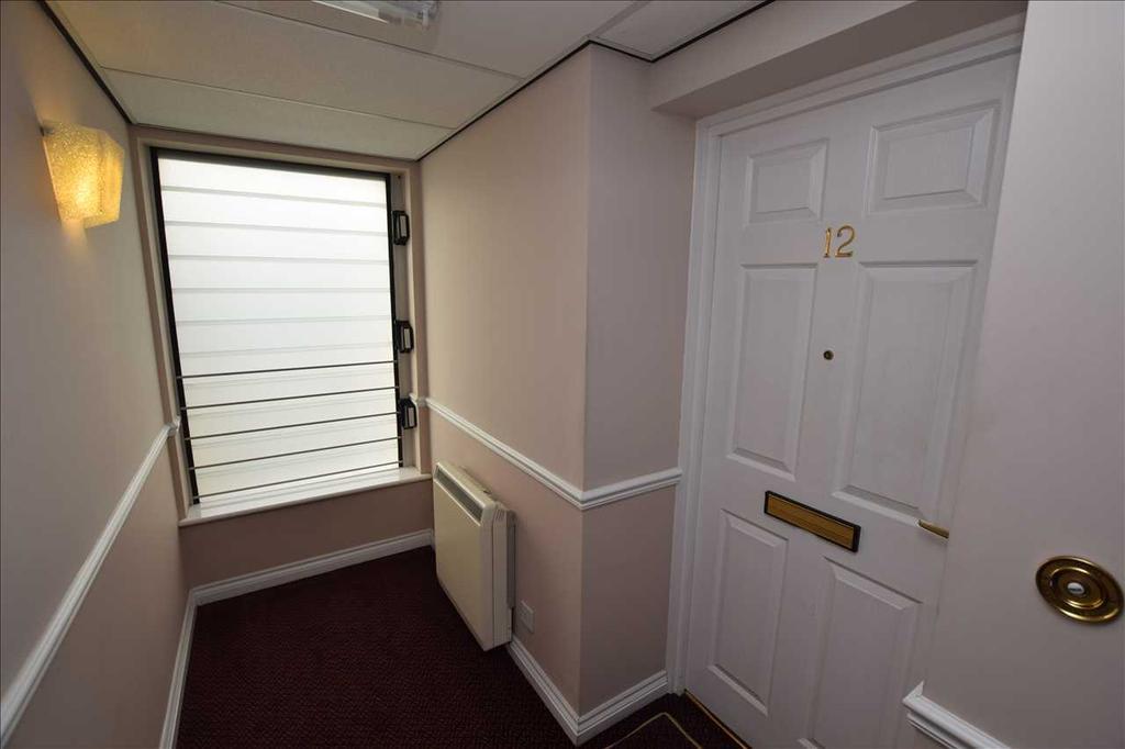 Front door to flat