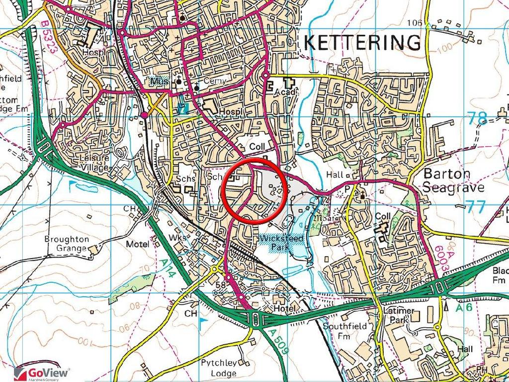 Location within Kettering