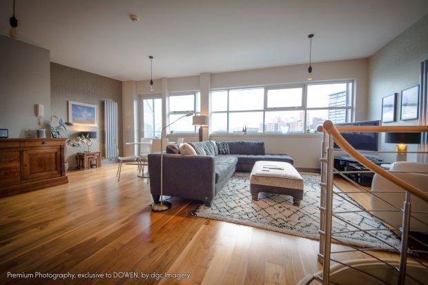 Upper floor open plan living area