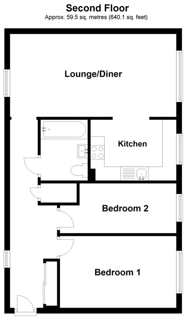 Floorplan: Second Floor